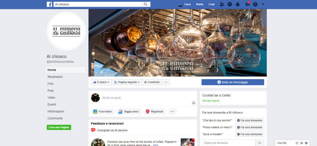 pagina FB Al Chiosco